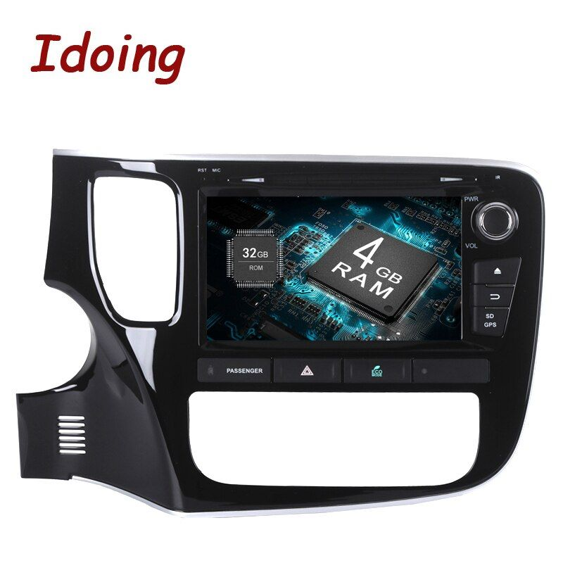 2Din 8inch Android8.0/7.1 Car Multimedia Player Steering-Wheel For Mitsubishi Outlander 2015 8 Core Fast Boot 4G+32G with DISC