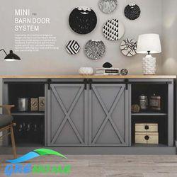 En acier au carbone cabinet intérieur mini grange coulissante quincaillerie de porte