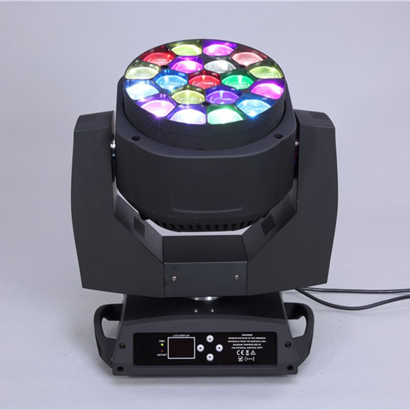 Удивительный эффект 19 шт. * 15 Вт LED 4 в 1 большой пчелы глаз увеличить перемещение головы мыть свет K10 LED освещение