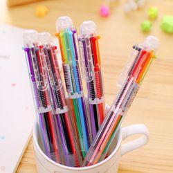 (1pcs/sell) 6 in 1 Gel Pen Set Key Kawaii School Supplies Office Stationary Photo Album Kawaii Pens School Stationery