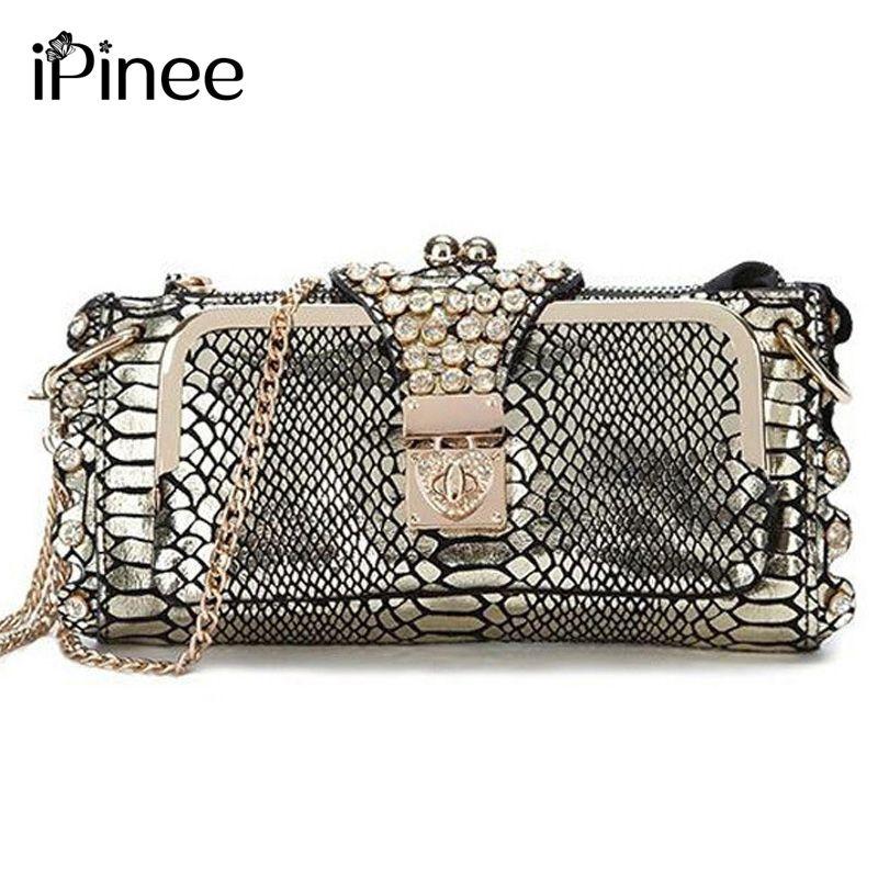 iPinee Hot Selling 2018 Genuine Leather Women Bags <font><b>Crossbody</b></font> Ladies' Clutch Bag Woman Messenger Bag