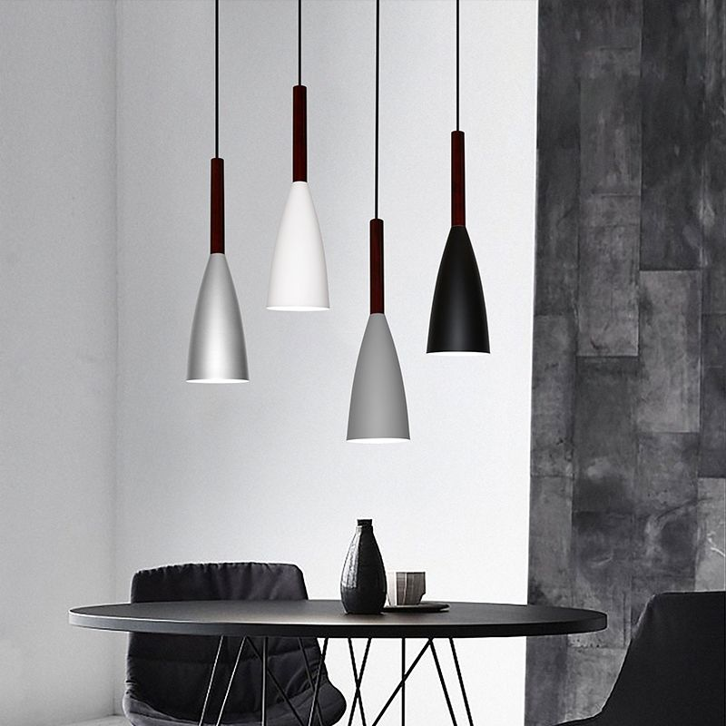Nordic Minimalism droplight E27 Aluminum ood Pendant Lights, Home decor lighting lamp and Bar Showcase spot light