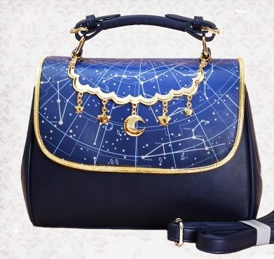 Princess sweet lolita bag original new starry sky constellation printing daily two functions portable shoulder bag MXY186