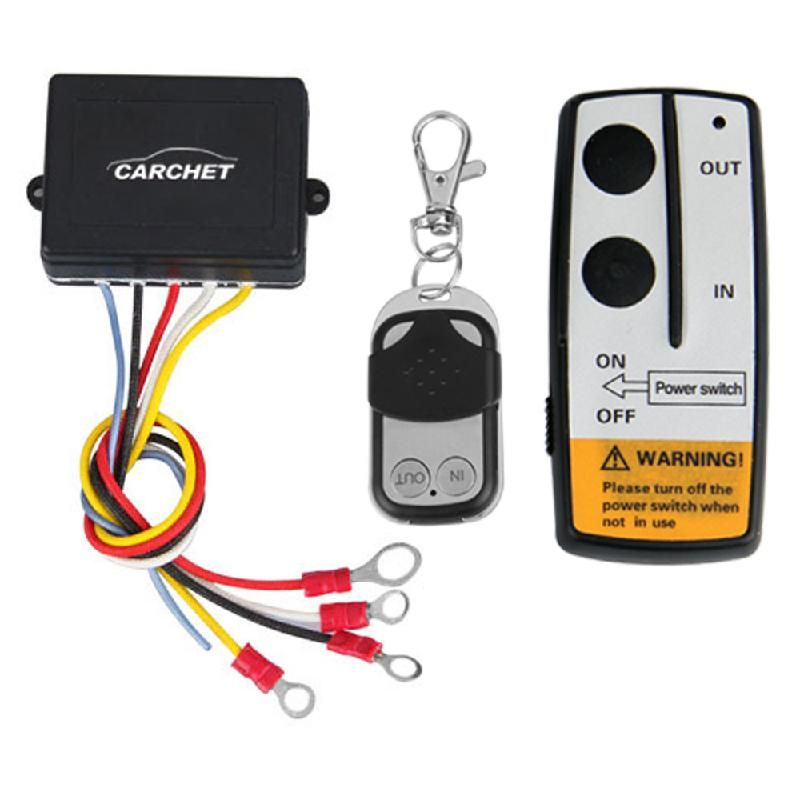 CARCHET 3 pcs Wireless Winch Remote Control Set Kit 12V For Truck Jeep SUV ATV