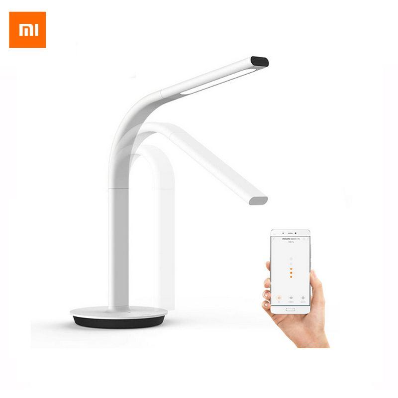 D'origine Xiaomi Mijia Led Smart Lampe de Table 2 Lampe de Bureau EyeCare Desklight Double lumière Soutien Smartphone App Télécommande