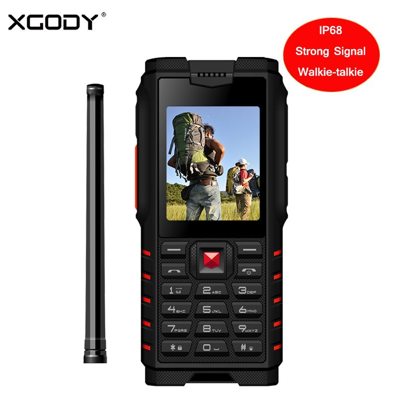 XGODY ioutdoor T2 Rugged Phone IP68 Walkie-talkie Intercom 4500mAh Power Bank Strong Flashlight 2.4