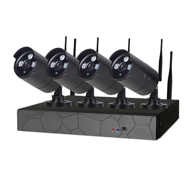 4CH 1080P HD Wireless NVR Kit P2P 1080P Indoor Outdoor IR Night Vision Security 2.0MP IP Camera WIFI CCTV System