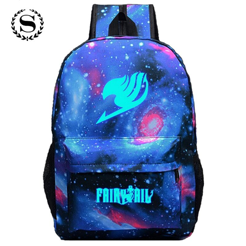 Fortnite Fairy <font><b>Tail</b></font> Printing Women Backpack Anime School Bags Teenagers Girls Cartoon Travel Nylon Bag Mochila Galaxia Rucksack