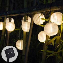 Solar luces de cadena bola linterna 10/20 LED Solar iluminación al aire libre luces de hadas de la Navidad luz decorativa para fiesta