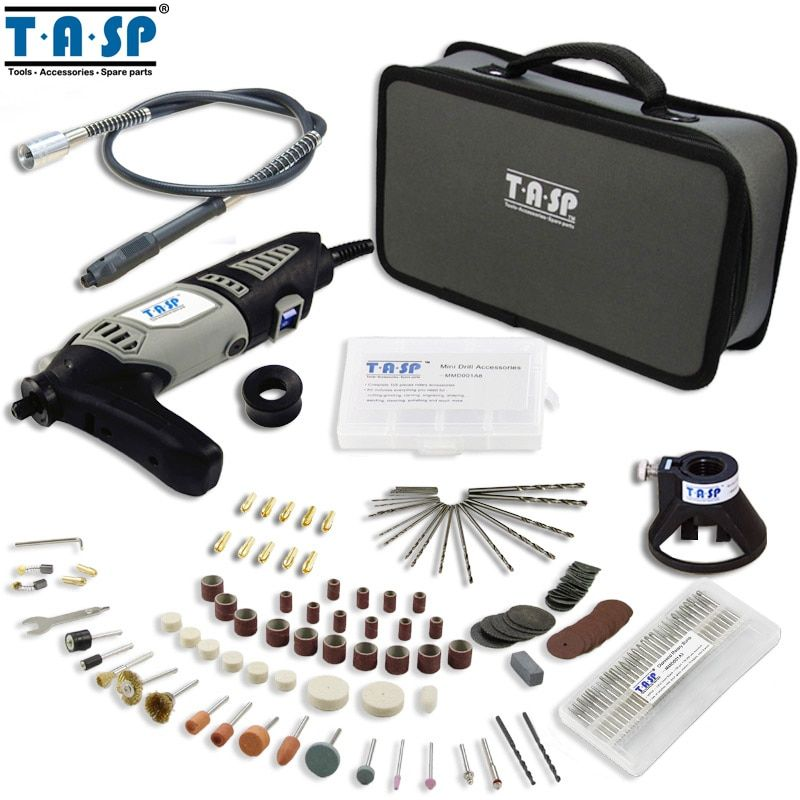TASP 170W Rotary Tool Set Electric Mini Drill Kit with Accessories