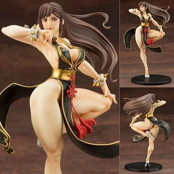 24cm Street Fighter Chun Li Battle Costume Figure Toy Doll Collection Model Brinquedos Figurals Gift