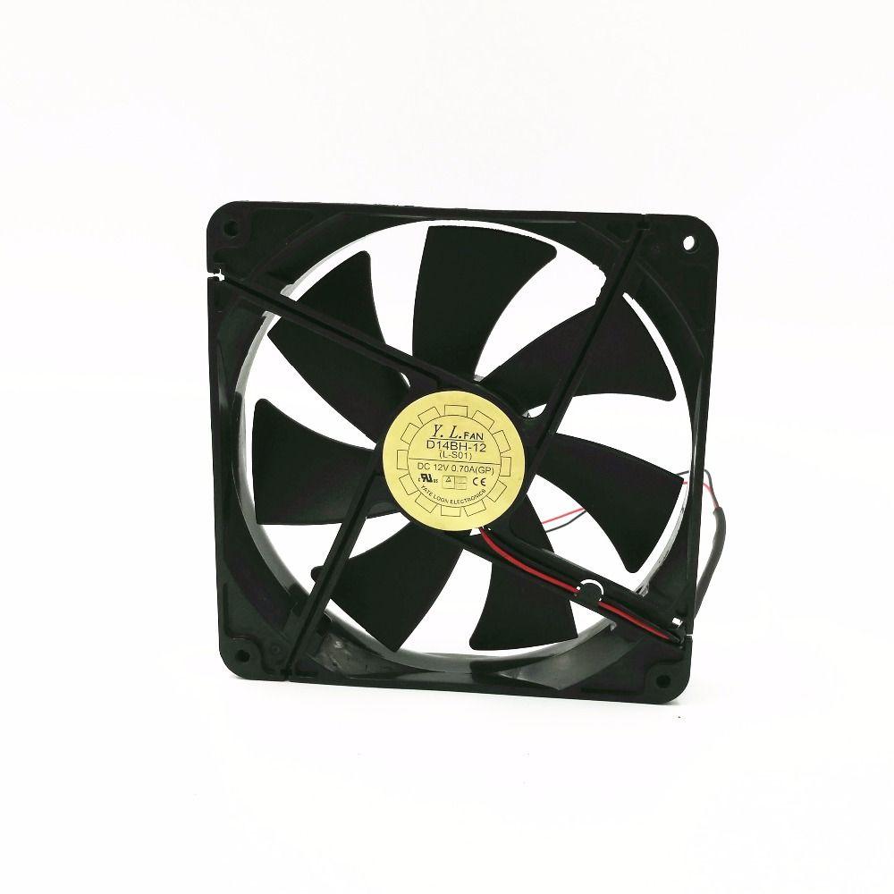 12V 0.7A axial cooling fan 14cm 14025 Power Fan D14BH-12 Silent Cooling Fan