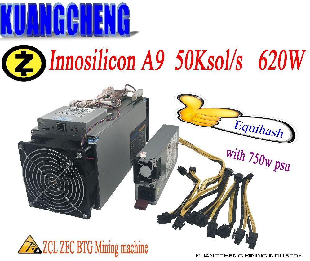 KUANGCHENG in lager 80--90% neue miner Zcash Miner ZEC BTG Innosilicon Equihash A9 ZMaster 50 k bergbau Leistungsstarke Z9 bergleute