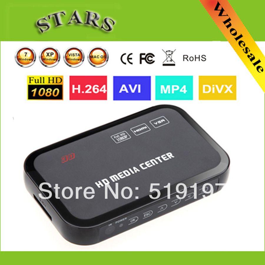 1080P full HD media video player Center with HDMI VGA AV USB SD/MMC Port Remote Control,Dropshipping
