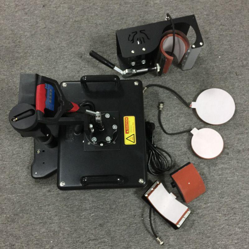 5 in 1 kombinierter hitzepressemaschine für trays/kappen/tassen/