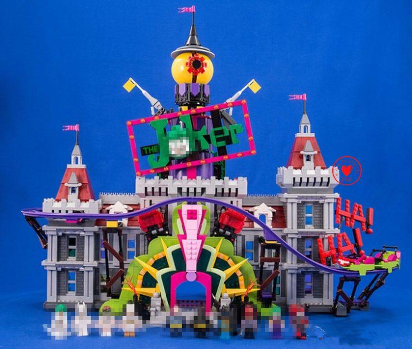 New DC SuperHeroes Joker's Manor batman fit legoings batman joker castle figures Building Blocks Bricks diy toys 70922 gifts kid