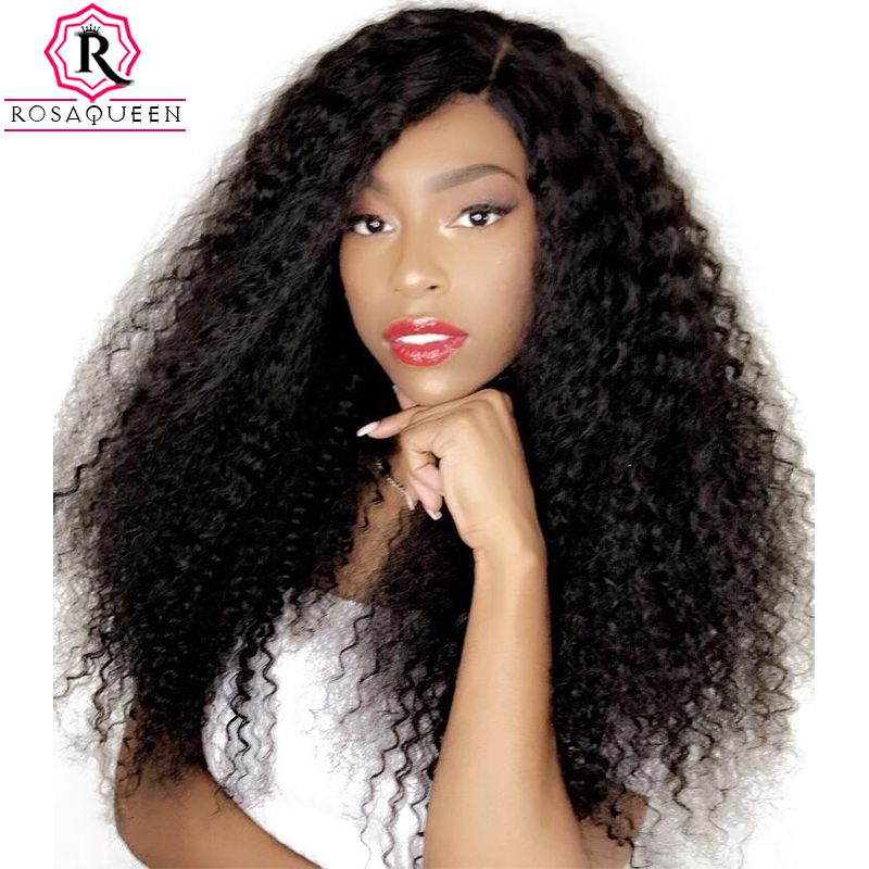 360 Lace Frontal Wig Pre Plucked With Baby Hair Deep Wave Lace Front Human Hair Wigs For Women Rosa Queen Full Remy Black