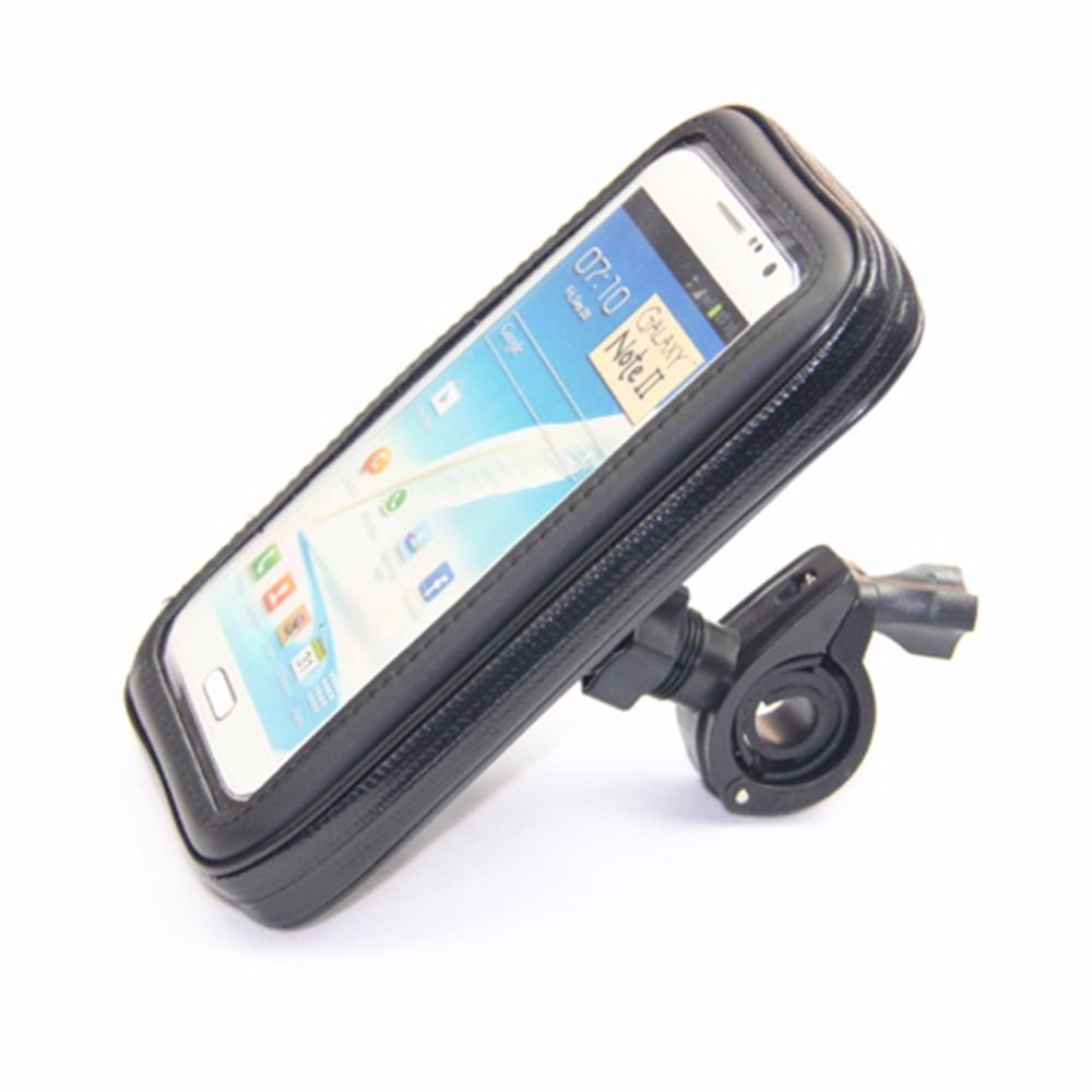 Universal Waterproof Phone Bike Bag Cover Case Pouch with Mount Holder For Motorcycle Bicycle Mobile Phone S M L XL Black