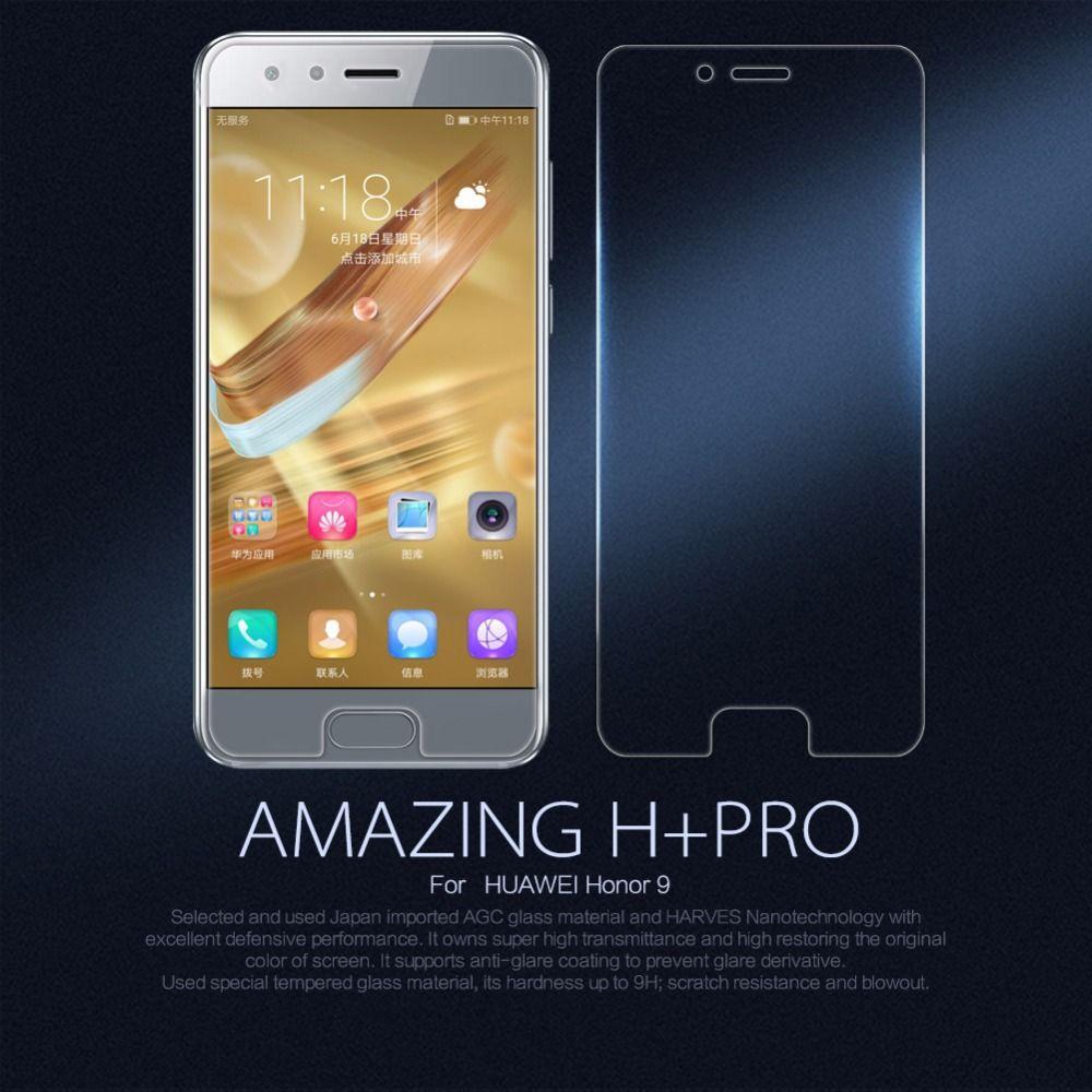 Huawei Honor 9 protecteur d'écran en verre trempé NILLKIN étonnant H & H + Pro nanomètre Anti-Explosion Honor 9 film de protection en verre