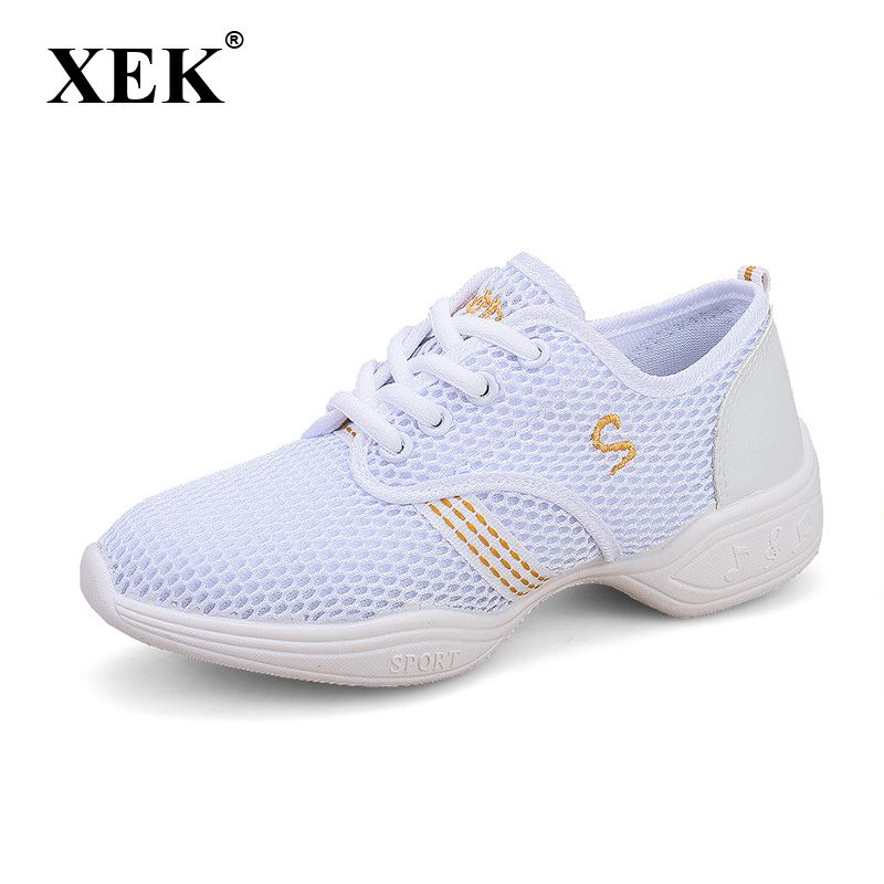New 2017 Dance shoes women Jazz Hip Hop Shoes salsa sneakers for woman size 41 42 big size Spring Summer dance shoes