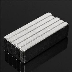 5pcs 40 x10 x 4 mm N52 Block Bar Magnet Rare Earth Neodymium Permenent Magnets Rectangle Square Fridge Magnets 40mm x10mm x 4 mm