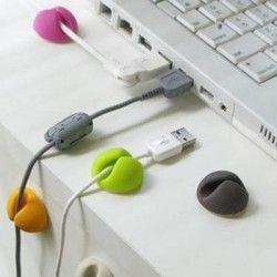 6 pcs/set de haute qualité câble Winder universelle accessoires de bureau pince solide gestion des câbles câble gestionnaire