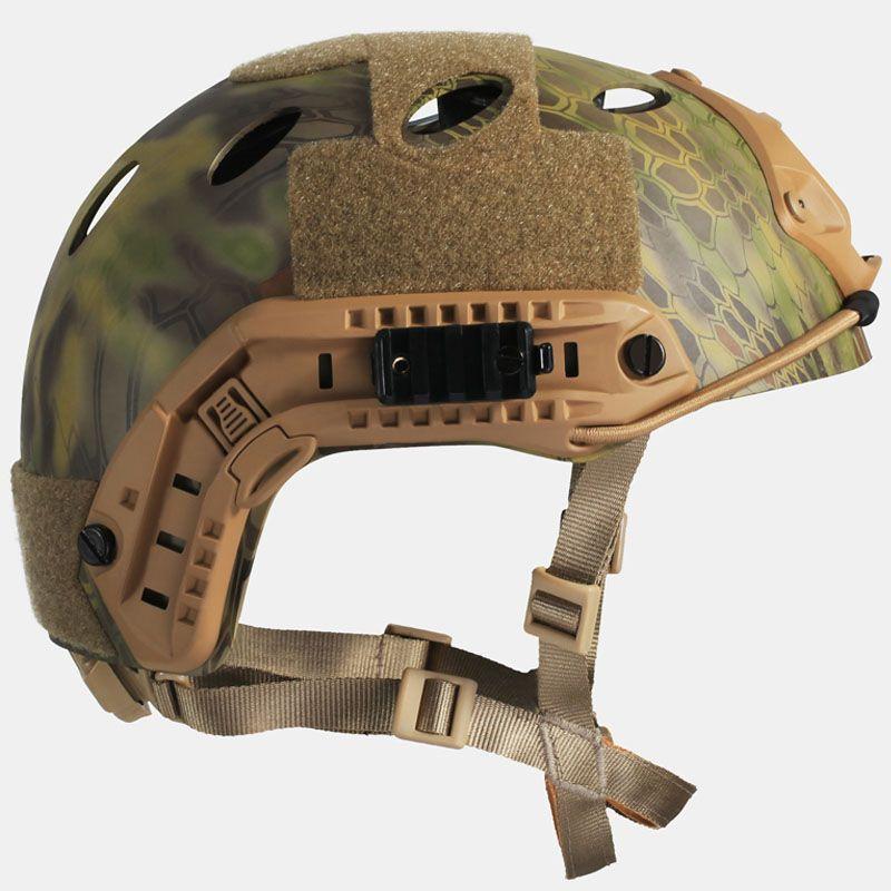 SCHNELLE PJ Taktische Airsoft Kriegsspiel Helm Kryptek Camouflage Picatinny wing-loc ARC NVG Mount
