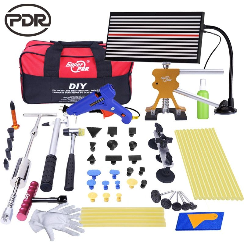 PDR Tools Dent Removal Paintless Dent Repair Tools Removing Dents Without Painting LED Lamp Reflector Board Tool Kit Ferramentas