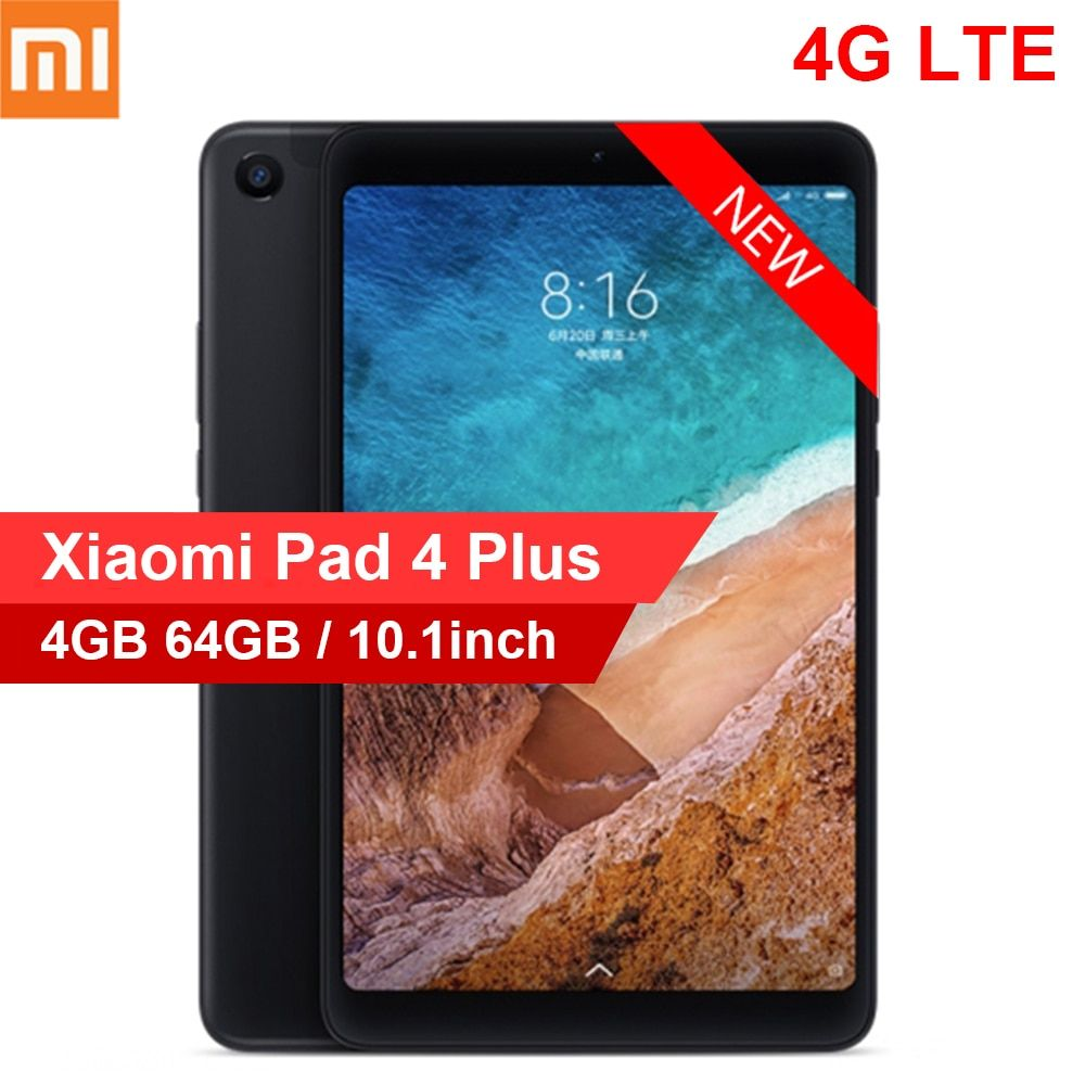 Xiaomi Mi Pad 4 Plus 4G Phablet 10.1 inch MIUI 9.0 Qualcomm Snapdragon 660 4GB 64GB Facial Recognition 5.0MP 13.0MP Dual Cameras