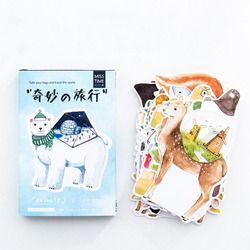 30 Pcs/pack Bande Dessinée Hétéromorphisme Mignon Animal Voyage Carte De Voeux Carte Postale D'anniversaire Lettre Enveloppe Cadeau Carte Ensemble Message Carte