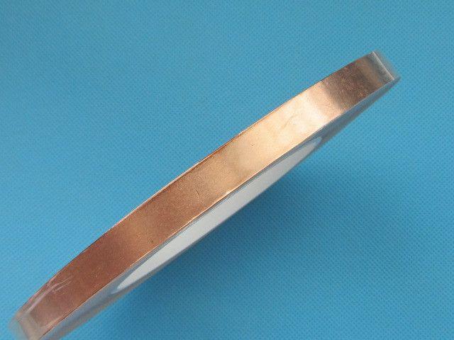 8mm x 50m Copper Foil Tape Adhesive Tape Face Electric Conduction Copper Foil Tape EMI Shielding Guitar Slug and Snail Barrier