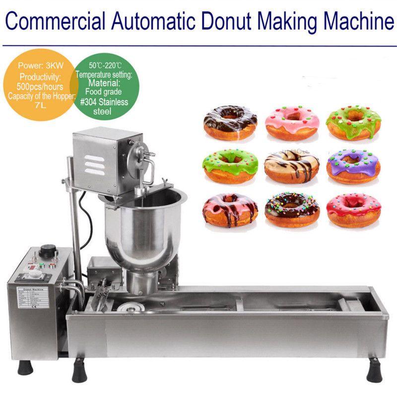 (Schiff aus GROßBRITANNIEN) Kommerziellen Automatische Donut Maker, Der Maschine Breite Öl Tank 3 Sets Kostenloser Form 220V