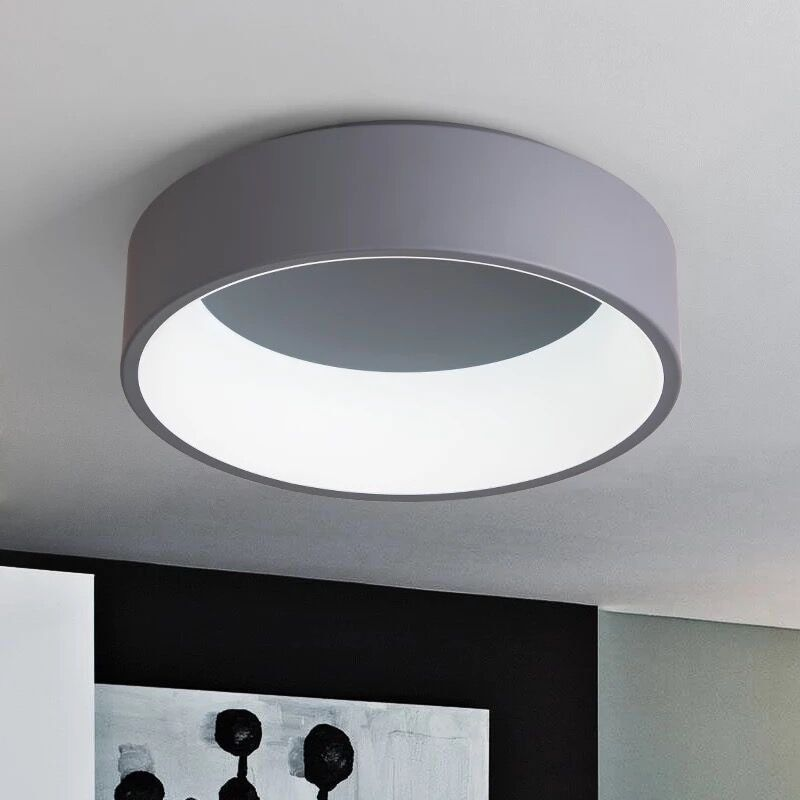 Simple Modern Round LED Ceiling Light White/Grey Circle Ceiling Mounted Lamp Home Decor Fixtures for study dining room bedroom