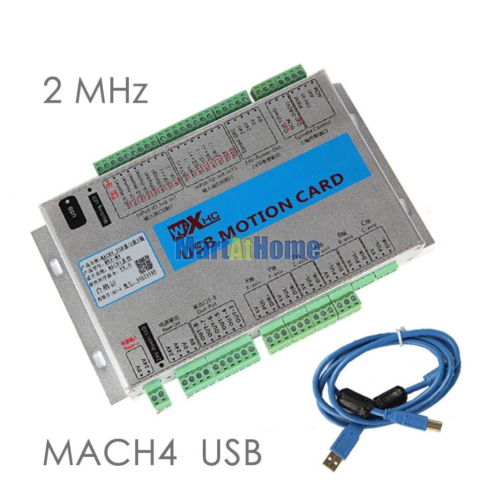 USB 2 мГц mach4 ЧПУ 4 оси движения Управление карты Breakout совета mk4-m4 для токарных, машина центра, гравировальный машины # sm781 @ SD