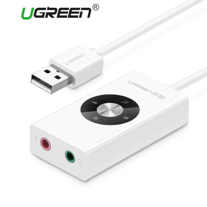 Ugreen carte son externe HiFi 4 modèles USB à écouteur casque 3.5mm adaptateur USB carte Audio pour ordinateur portable carte son