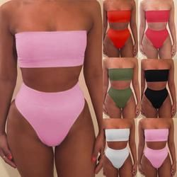 Femmes Bandage Bikini Soutien-Gorge de Maillot de Bain 2 pcs Ensemble Maillots De Bain