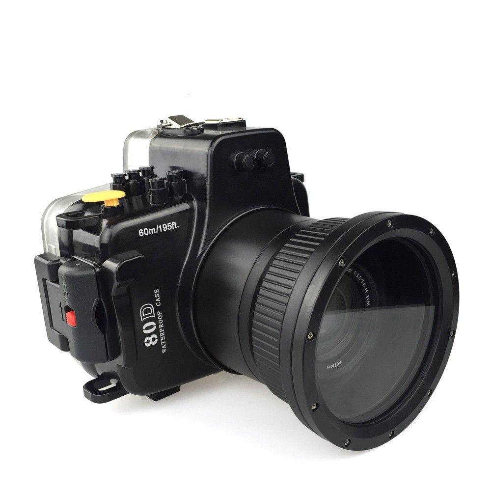 Meikon 40 mt/130ft Unterwasser Kamera Gehäuse Fall für Canon EOS 80D, kamera Wasserdichte Taschen Fall für Canon EOS 80D Kamera