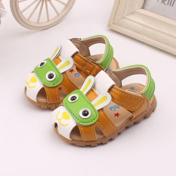 Kinder Sandalen Jongen Animal Boys Shoes Summer First Walkers Children Chaussure Enfant Fille Cute Infant Kids Sandals