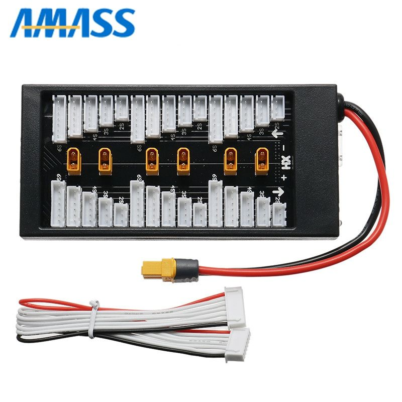 Amass XT30 Plug Parallel Charging Board XT60 Input For iSDT D2 Q6 SC-608 SC-620 Balance Balancing Charger for Lipo Battery DIY
