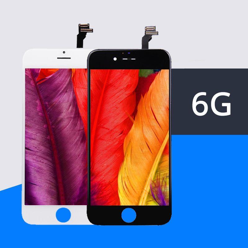 10 Pcs/lot 100% Top AAA pas de Pixel mort pour IPhone 6 LCD 4.7 pouces ecran ecran de remplacement lentille sil la 6G LCD gratuit DHL