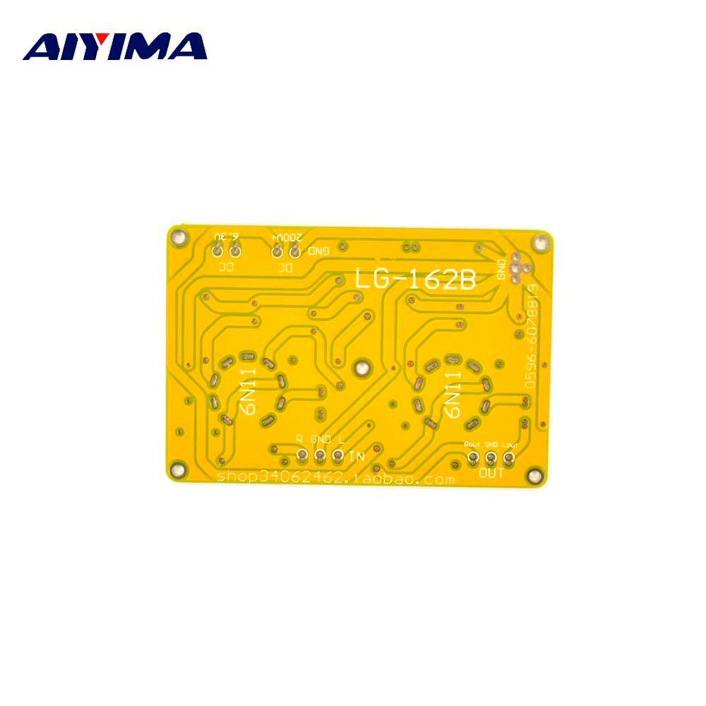 Aiyima ламповый ГРЭС Усилители для наушников предварительно Усилители домашние AMP печатной платы для 6N11/6DJ8
