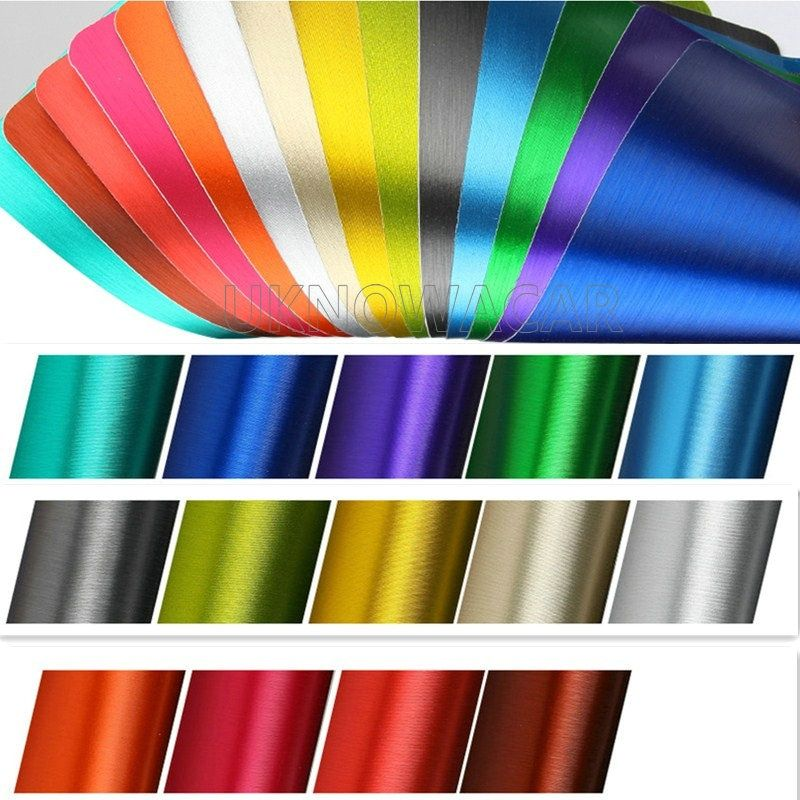 152CM Good Quality Black Grey Metallic Brushed Aluminum Vinyl Metal vinyl Car Wrap Film Car Sticker Styling Auto Foil Decoration