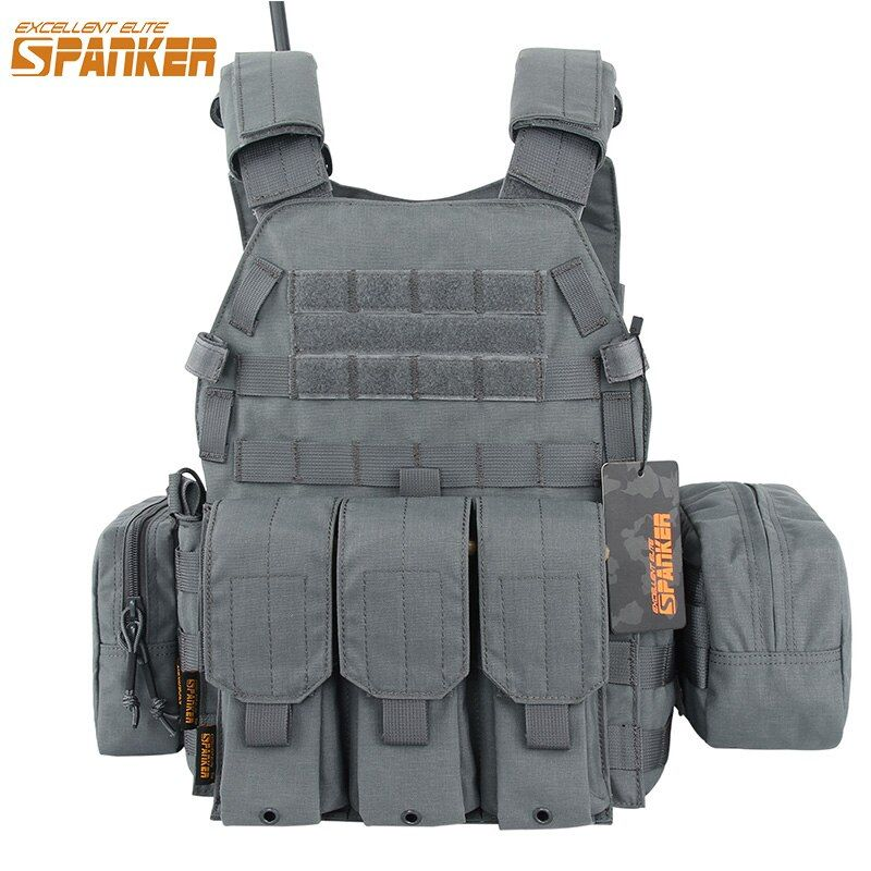 EXCELLENT ELITE SPANKER Tactical Nylon 6094 Hunting Vest Set Camouflage Outdoor Army Military Assault Training Molle Vest Suits