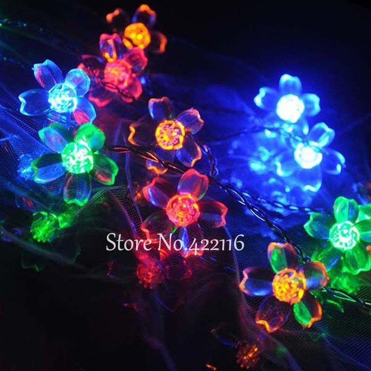 New Multicolor 10m 100SMD Cherry Blossoms Luces Navidad LED String Light Wedding Party Garden Christmas Fairy Light 110V/220V