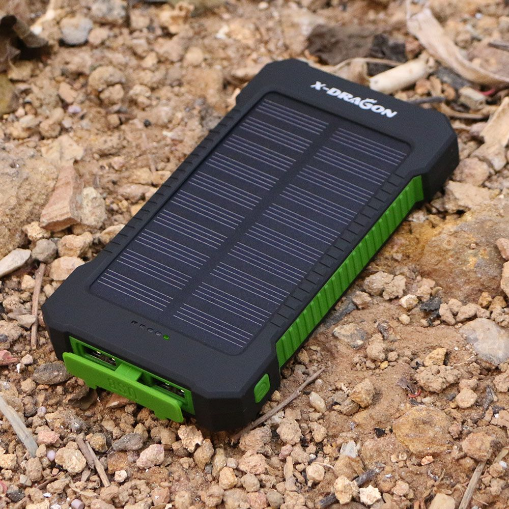 10000mAh Solar Power Bank Portable Solar Power Panel Charger Emergency External Battery Waterproof for Cellphone iphone Samsung
