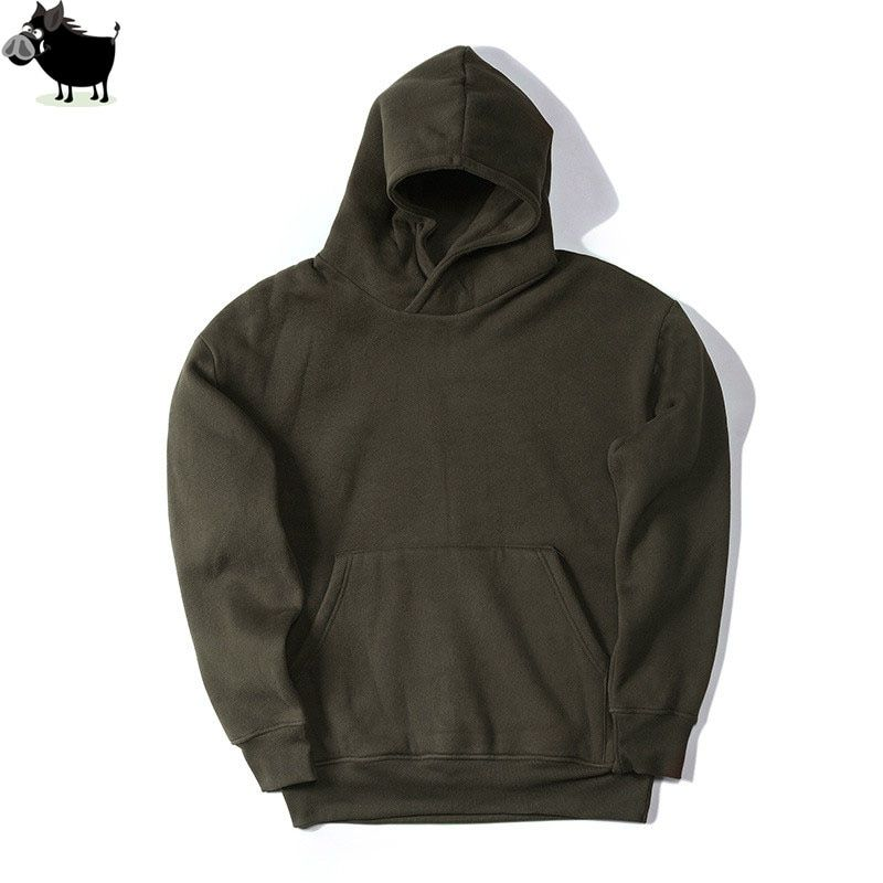 Man Si Tun New Streetwear Pullovers Drake Kanye West Plain Fleece Oversized Hoodie Kpop Clothes Tracksuit Hoodies Men Hip Hop