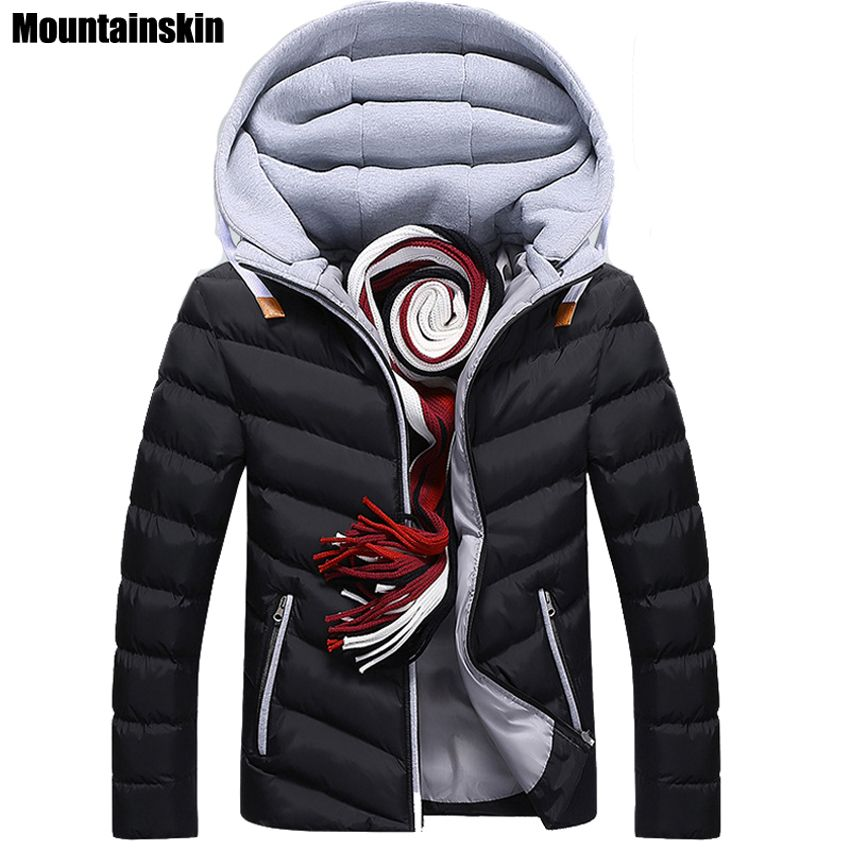 Moutainskin 4XL Winter Parkas Men's Jackets 2017 Casual Hooded Coats Men Outerwear Thick Cotton Jacket Male Brand Clothing SA152