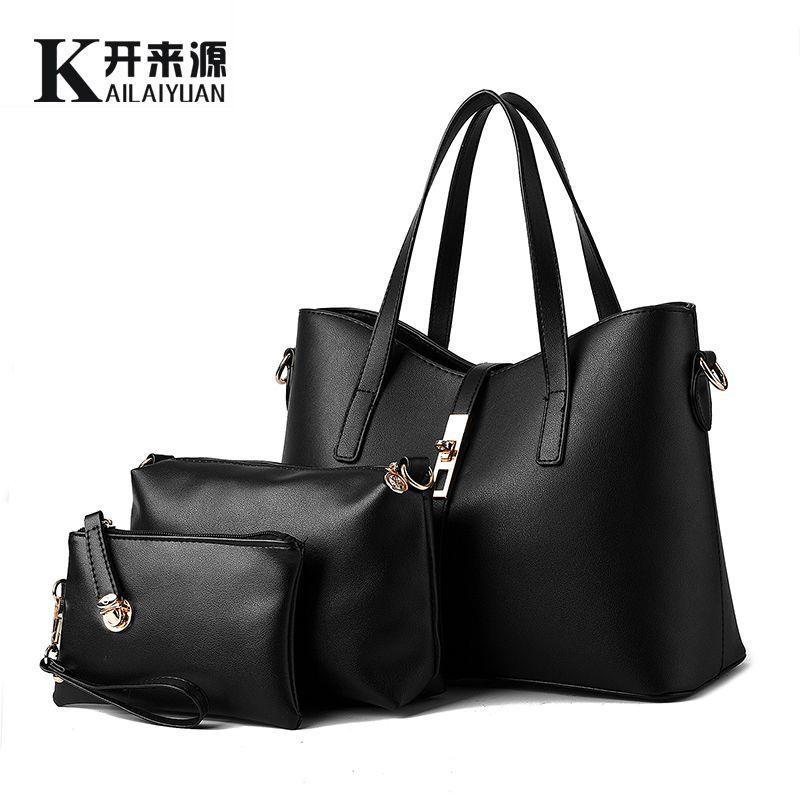 KLY 100% Genuine leather Women handbags 2018 New Europe style stereotypes fashion handbags Messenger bag shoulder bag