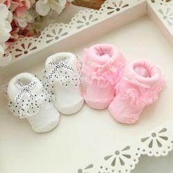 Putri Bayi Gadis Balita Renda Ruffle Frilly Non-Slip Kapas Pergelangan Kaki Kaus Kaki SL07