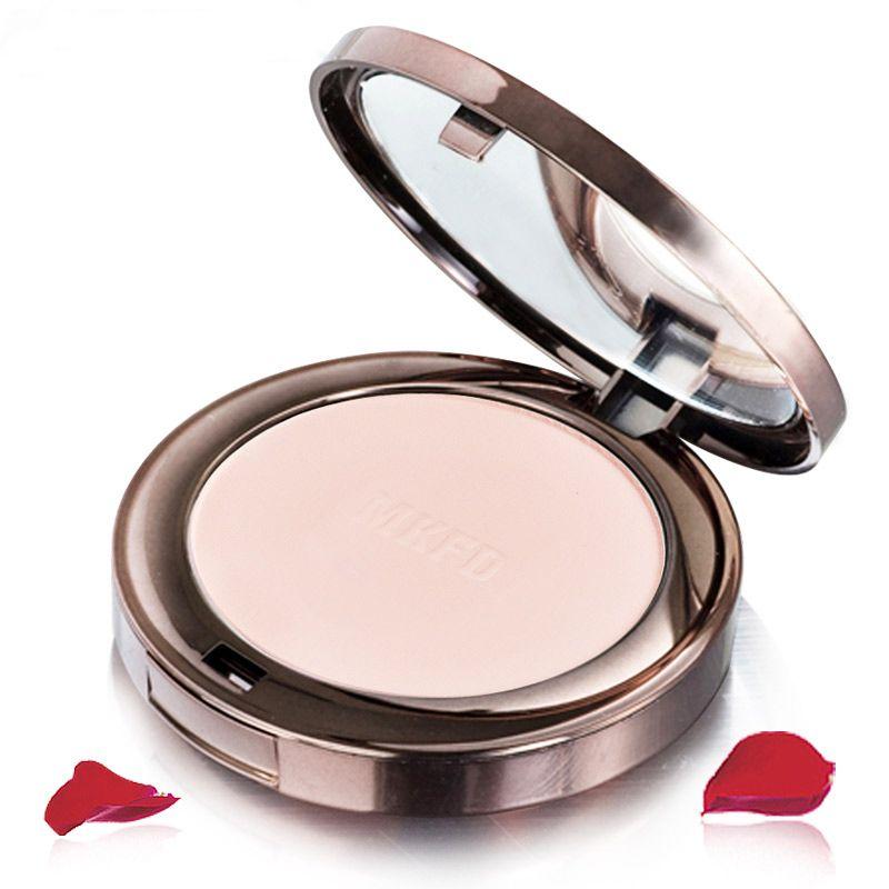Marque Visage Maquillage Produits Naturel Rose Usine Mat Pressée Poudre Anti-cernes Contrôle de L'huile De Blanchiment Éclairer Fondation Égayer